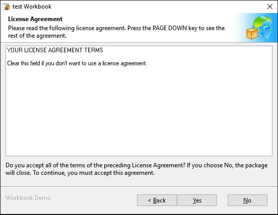 An installer displaying license agreement on Windows 10