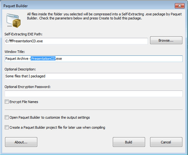 Shell Extension Dialog